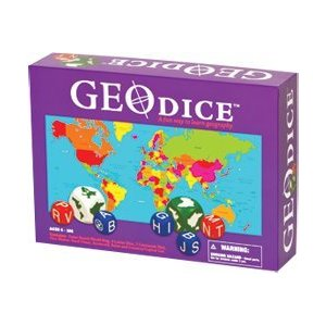Geography board games Geotoys Geodice game