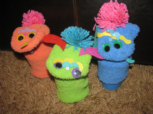 our own creative sock puppets