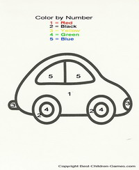kids printable color by number