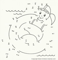 kids printable dot to dot - Kids Printable Activities